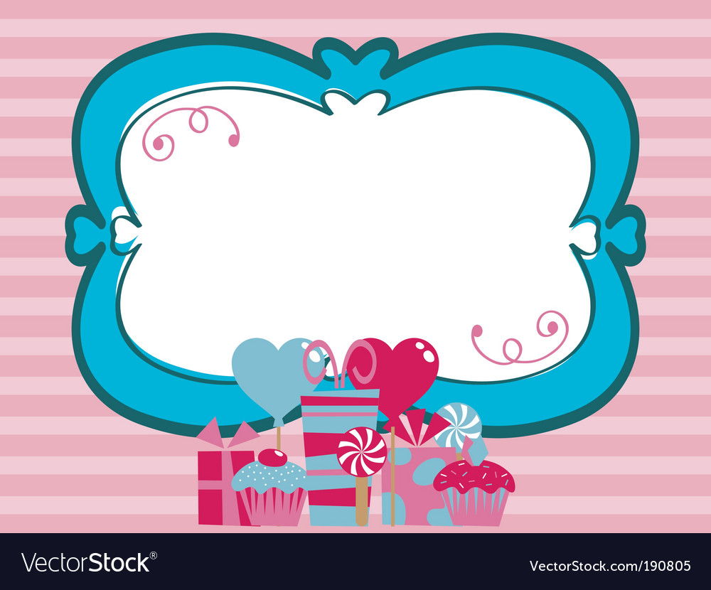 Party frame vector