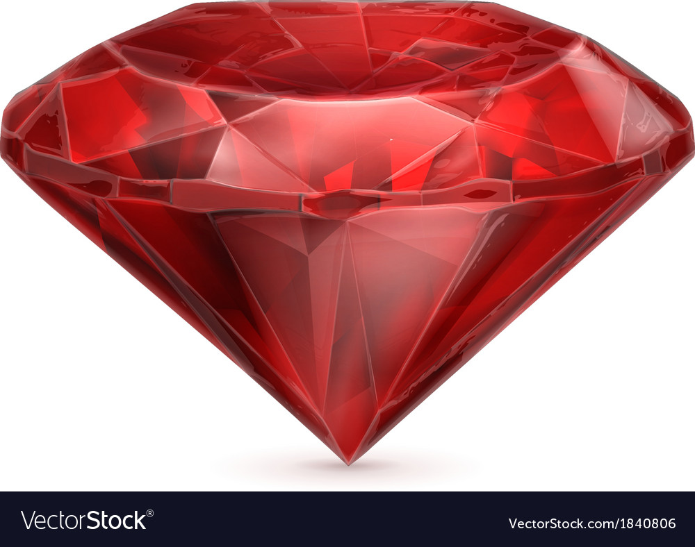 Ruby red icon vector