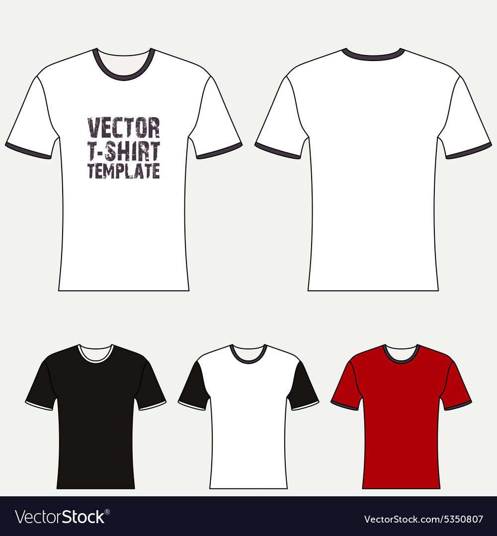 Tshirt blank design template vector