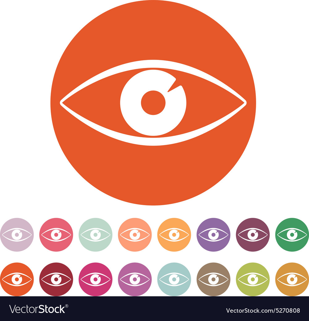 Eye icon eye symbol flat vector