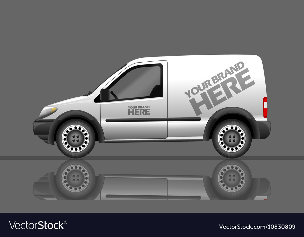 Digital silver and white realistic vehicle vector