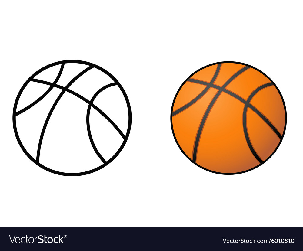 Basketball ball outline vector