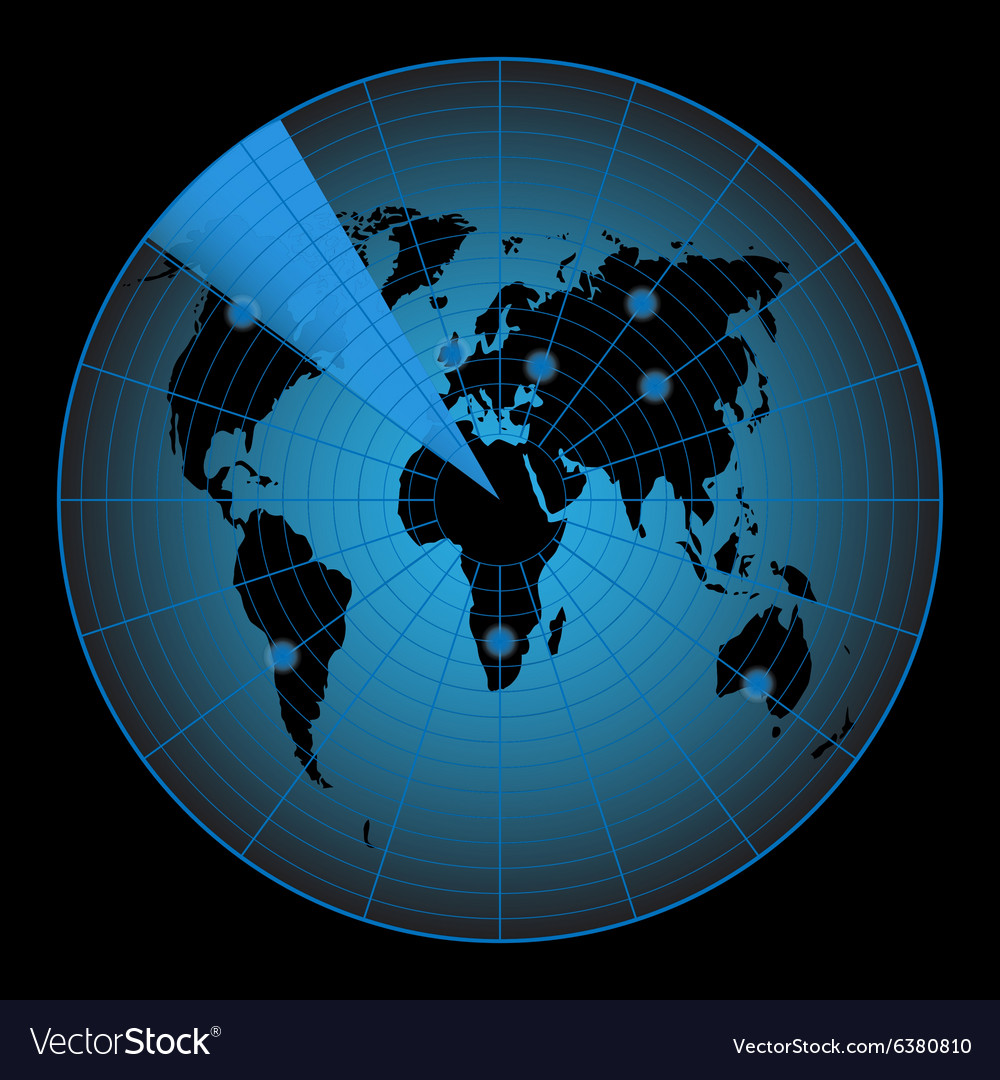 Radar map of the world vector
