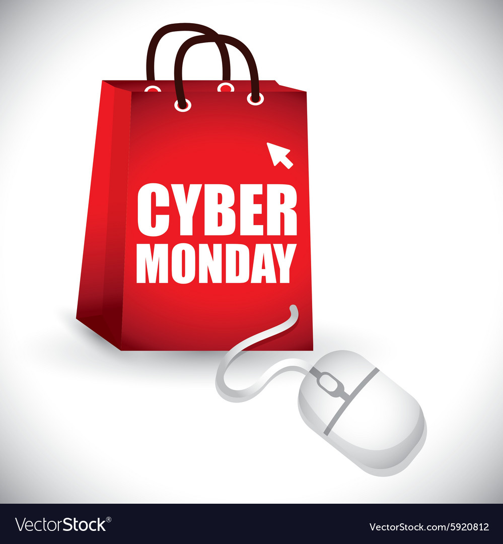 Cyber mondays ecommerce promotions and sales vector