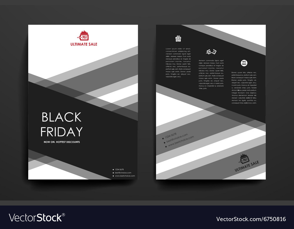 Set of brochure poster design templates in sale vector