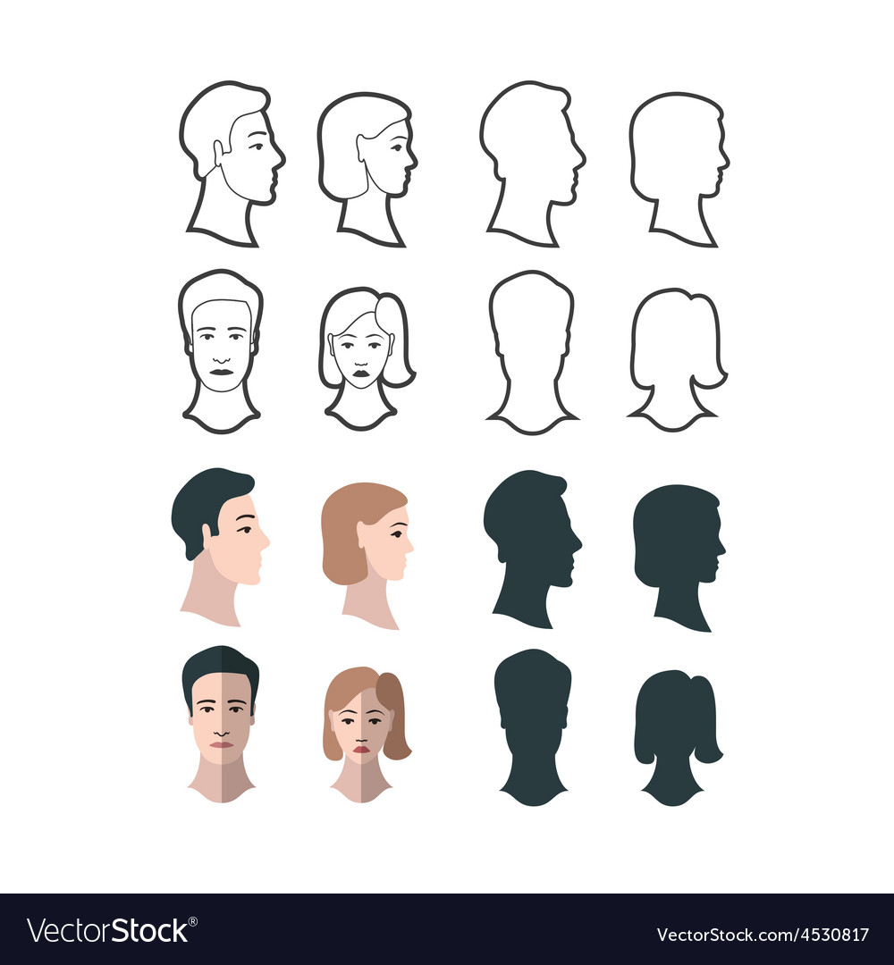 Gender portraits vector