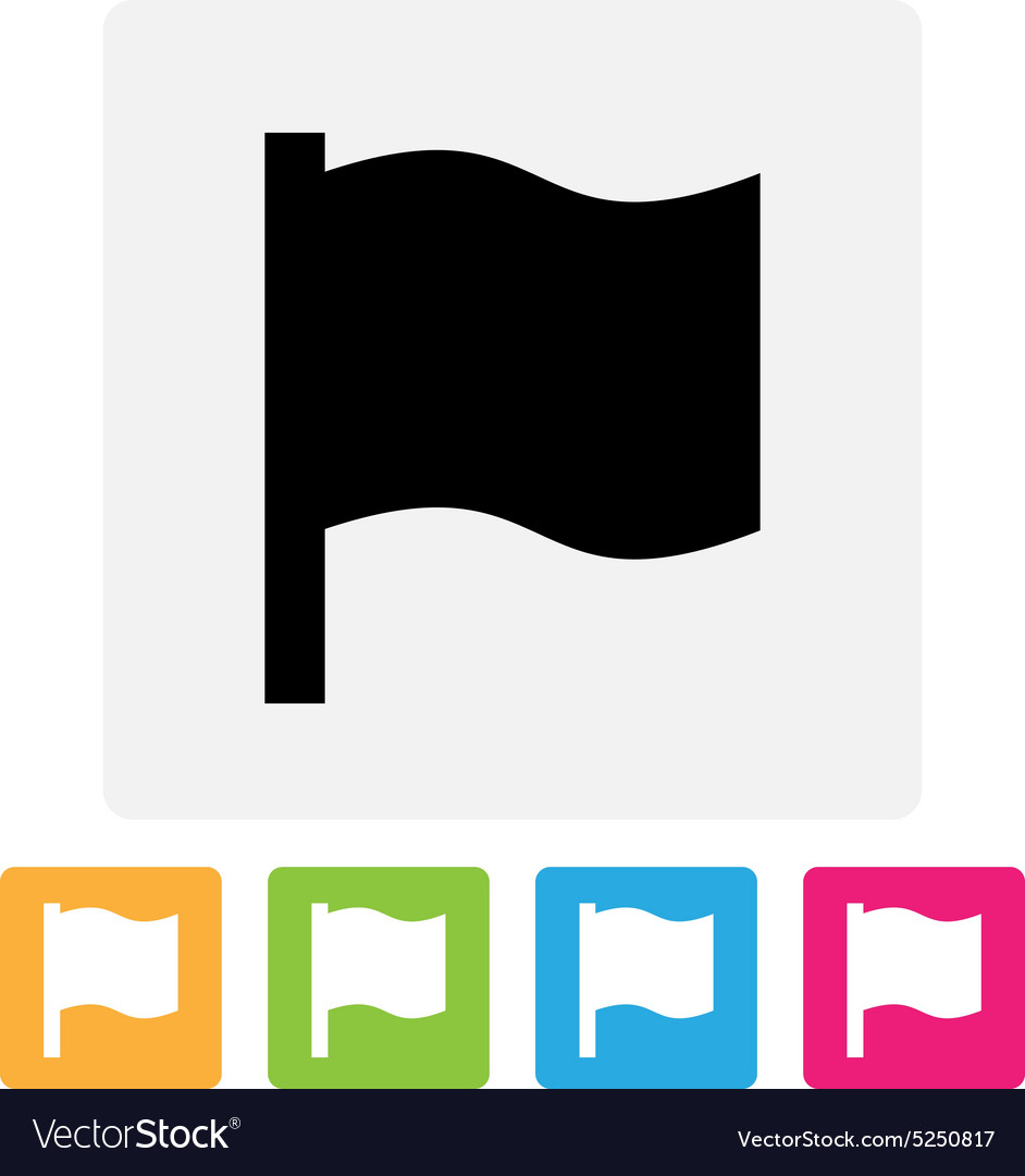 Waving flag icon vector