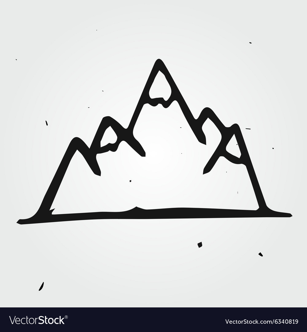 Mountains hand drawn vector
