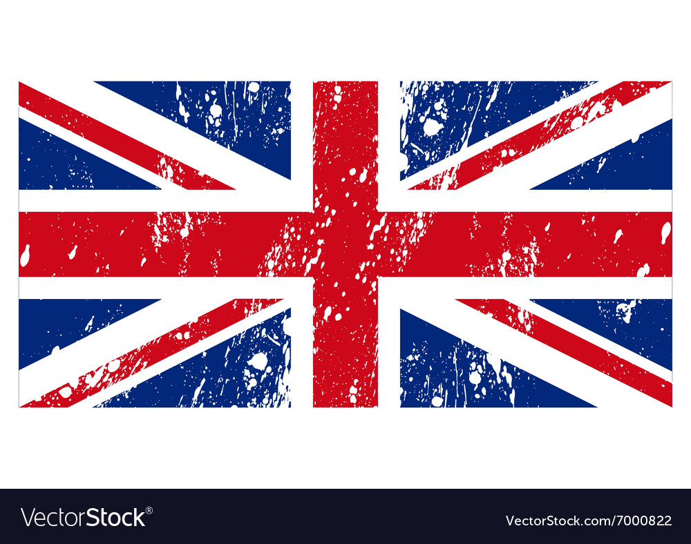 Flag great britain vector