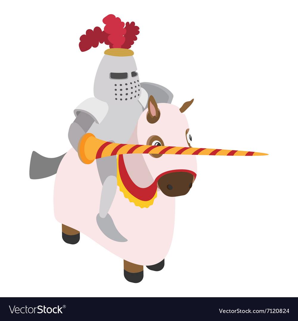 Knight with spear and horse vector