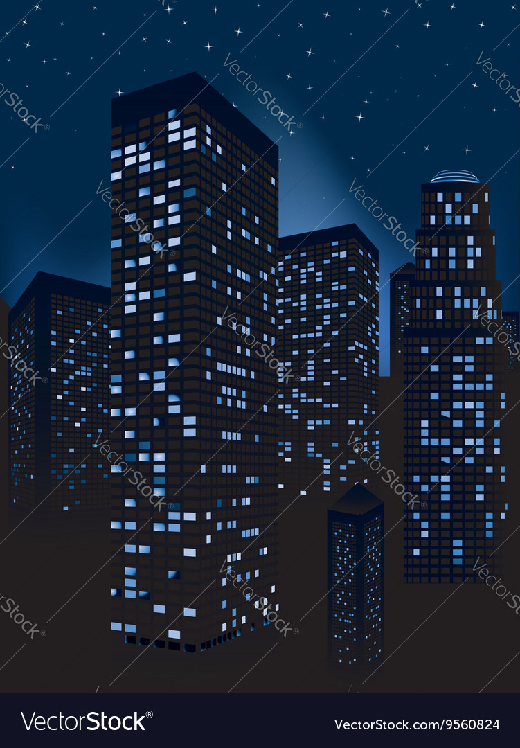 Night cityscape background3 vector