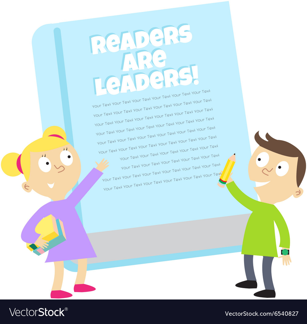 Readers are leaders vector