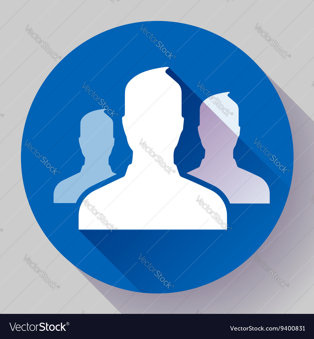 Group of people icon flat design style vector
