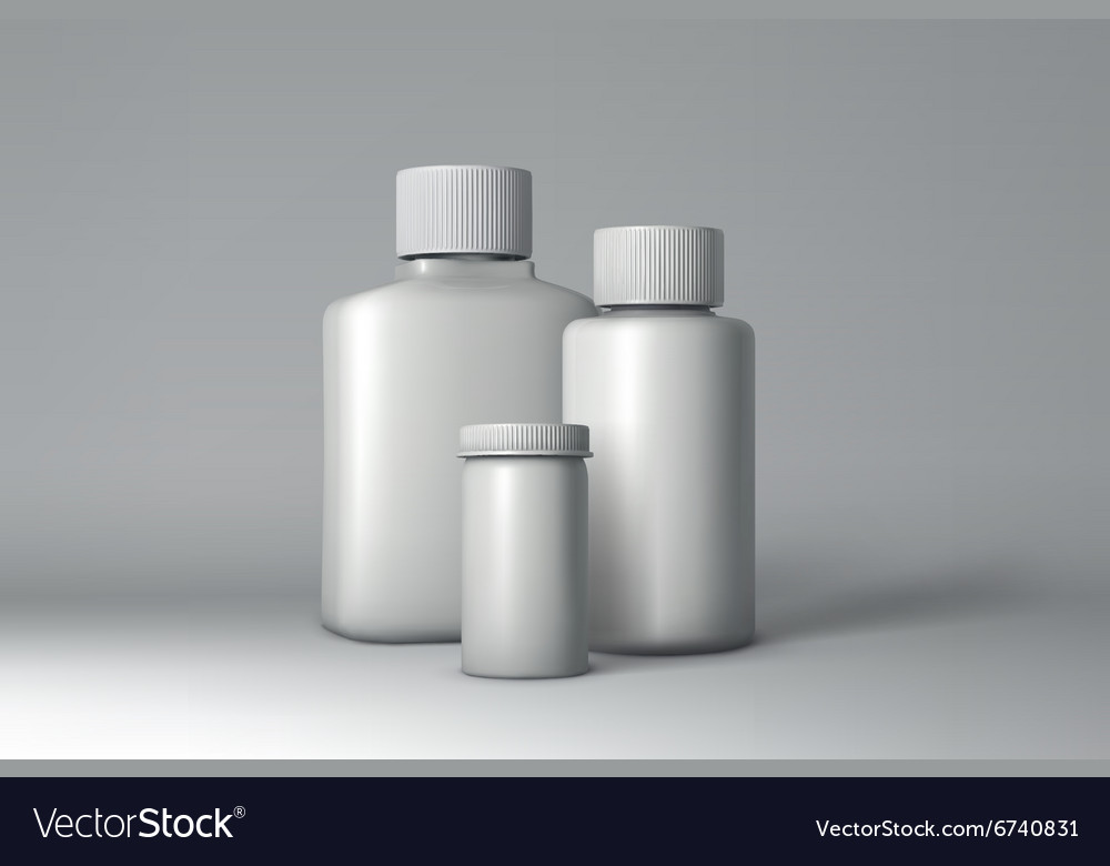 Plastic bottle packaging mockup vector