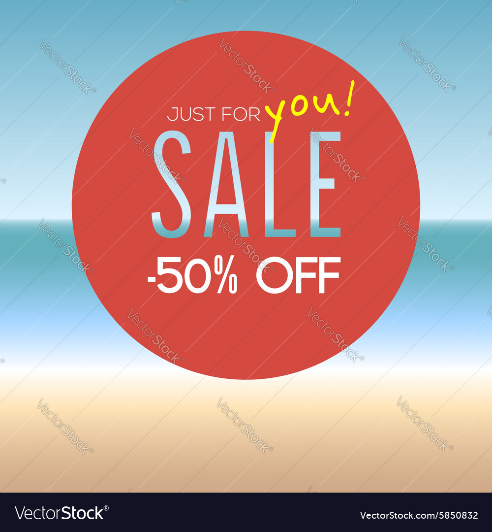 Summer sale with percentage vector