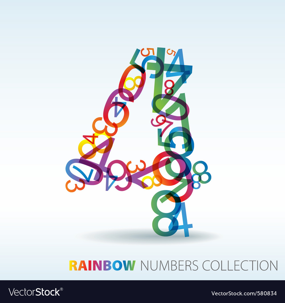 Rainbow number four vector