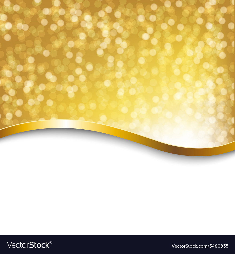 Golden holiday poster vector