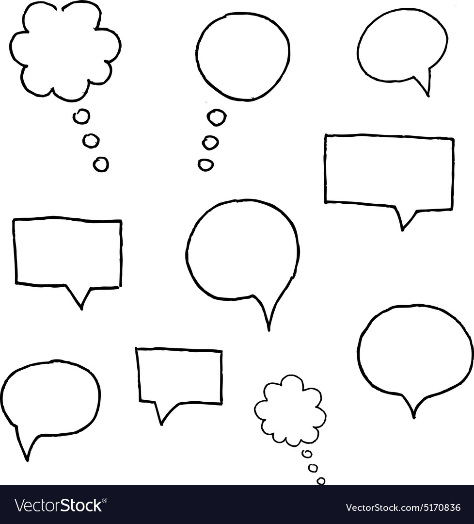 Speach bubble symbols set of grunge brush vector