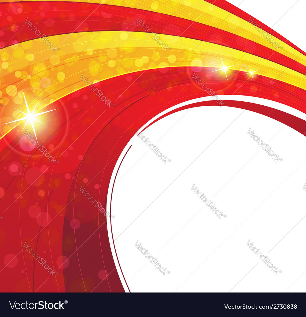 Red and yellow concentric background vector