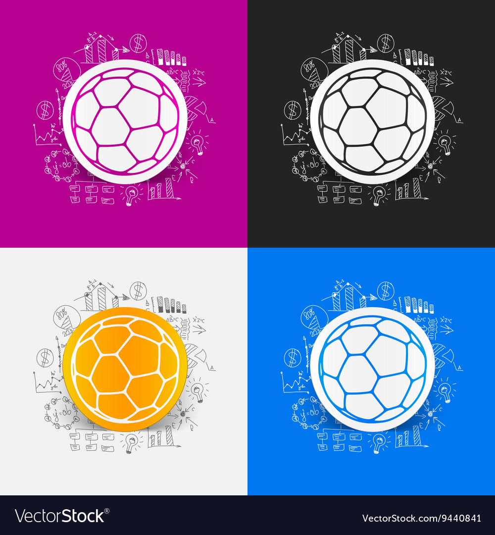 Drawing business formulas ball vector