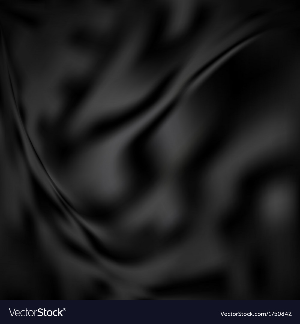 Black abstract silk background vector