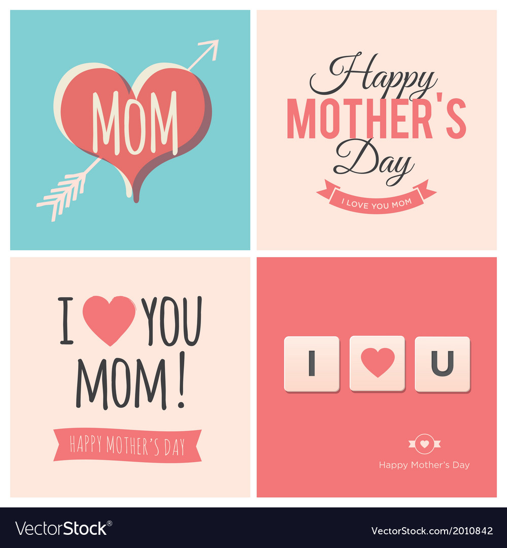 Happy mothers day cards vector