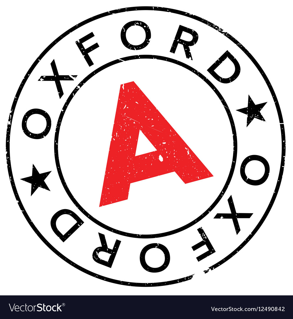 Oxford stamp rubber grunge vector