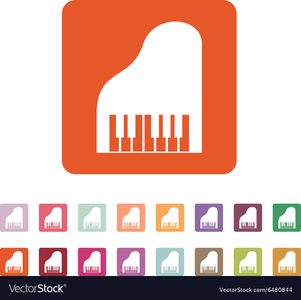 Piano icon music and pianist musician vector