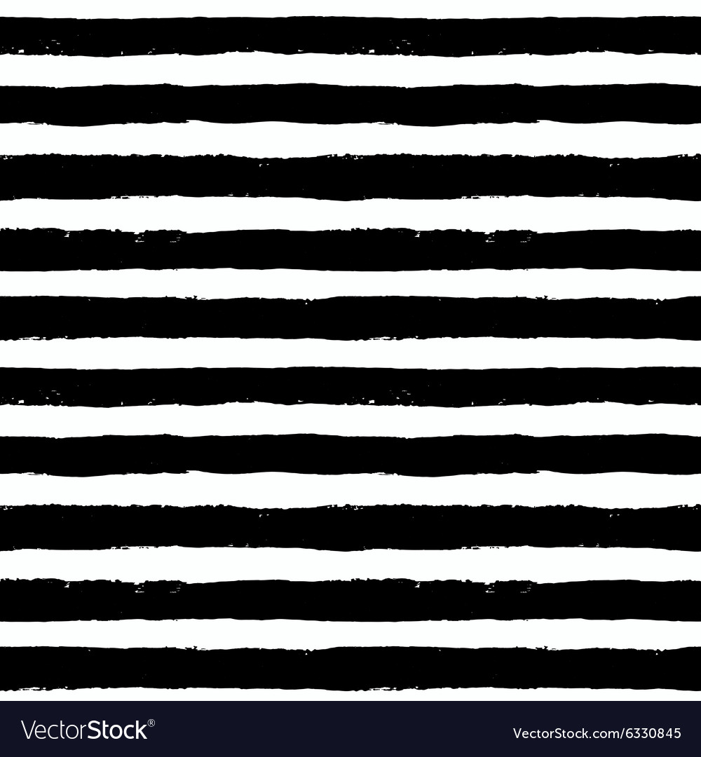 Brush strokes black white pattern vector