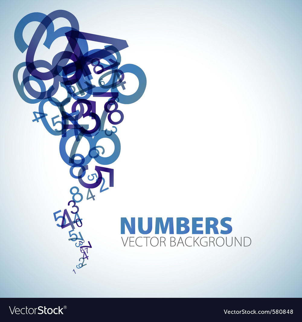 Abstract numbers background vector