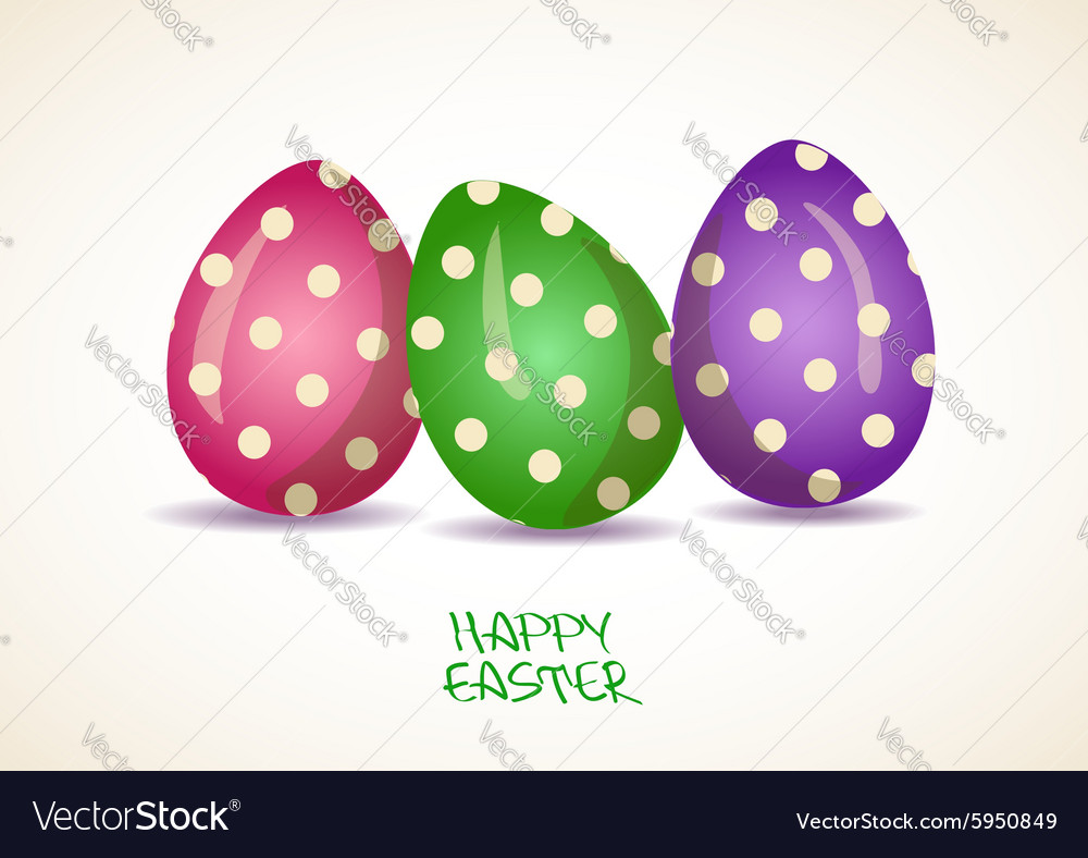 Three patterned easter eggs vector