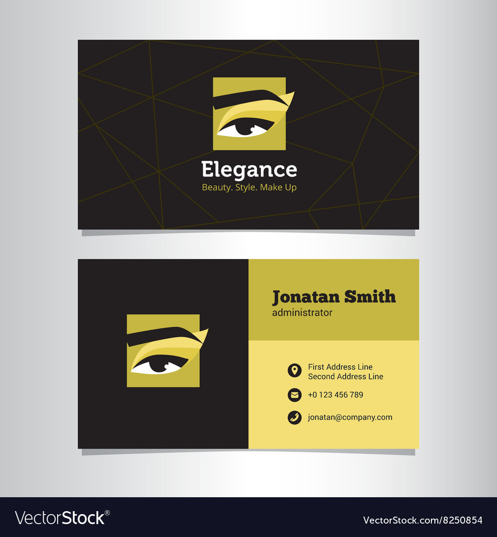 Business card template with make up studio vector
