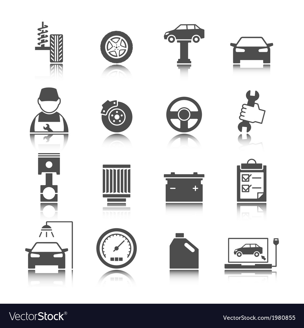 Car auto service icons set vector