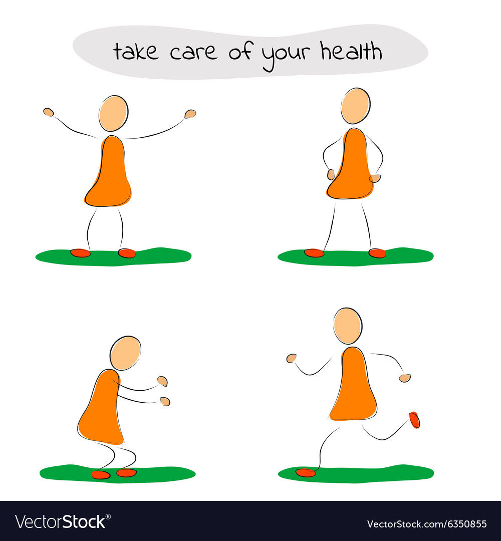 Four icon man care of your health vector
