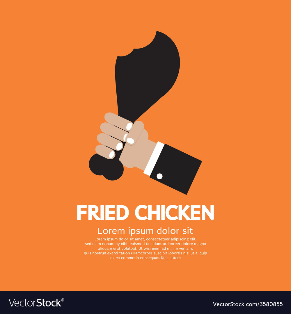 Fried chickens calf vector