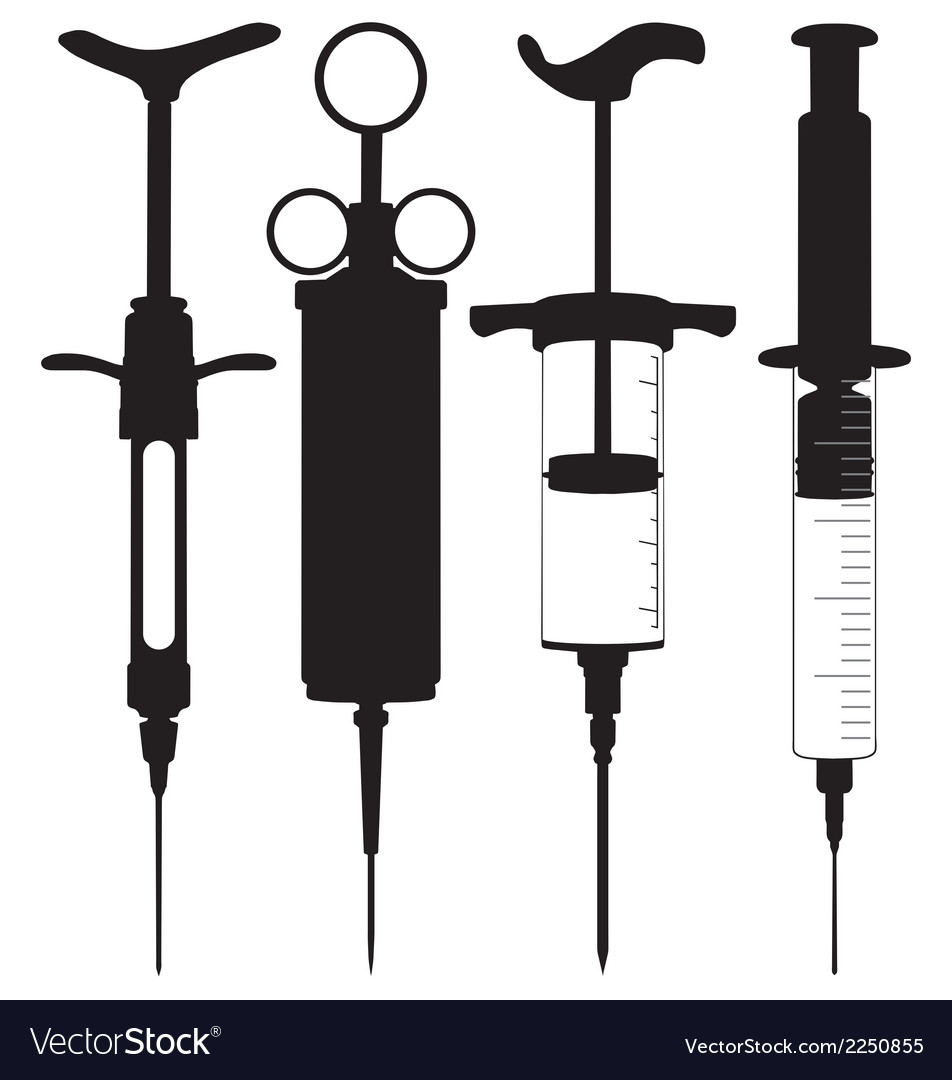 Hypodermic syringes vector