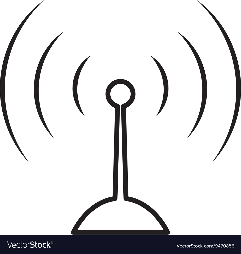Antenna icon signal design graphic vector