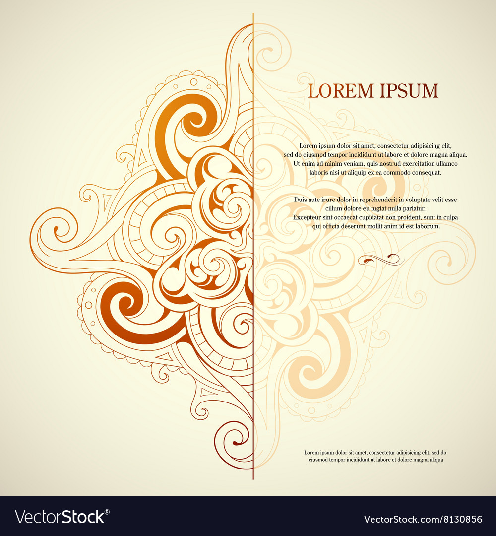 Orient style card vector