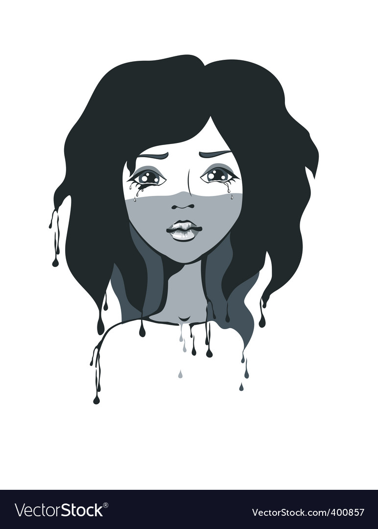 Artistic girl vector