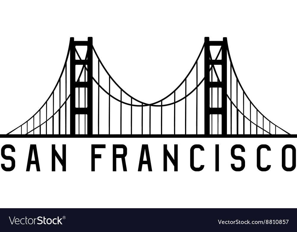 Golden gate bridge in san francisco design vector