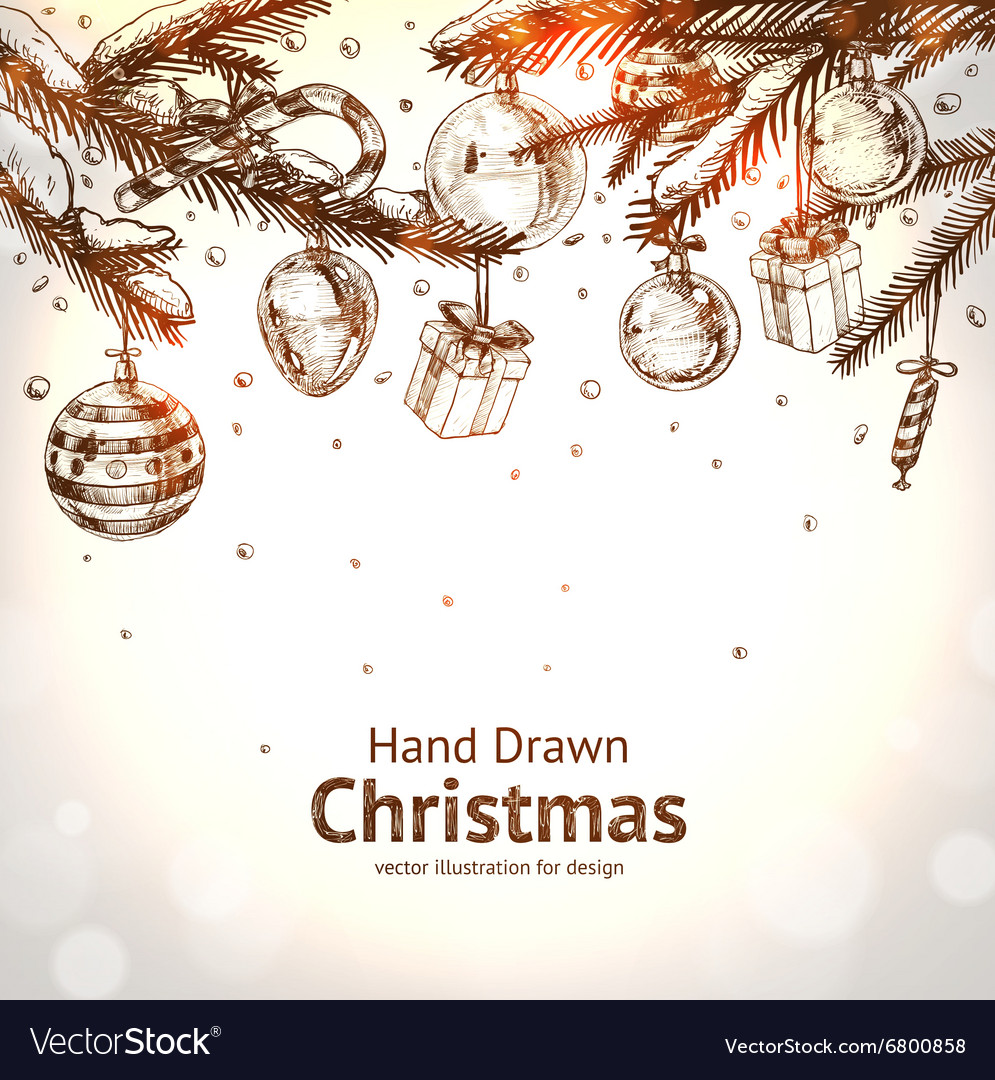 Hand drawn christmas vector