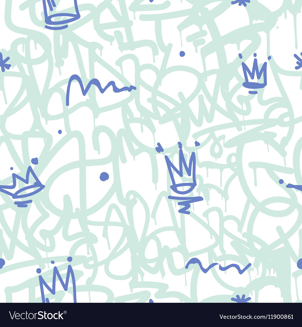 Graffiti seamless patten vector
