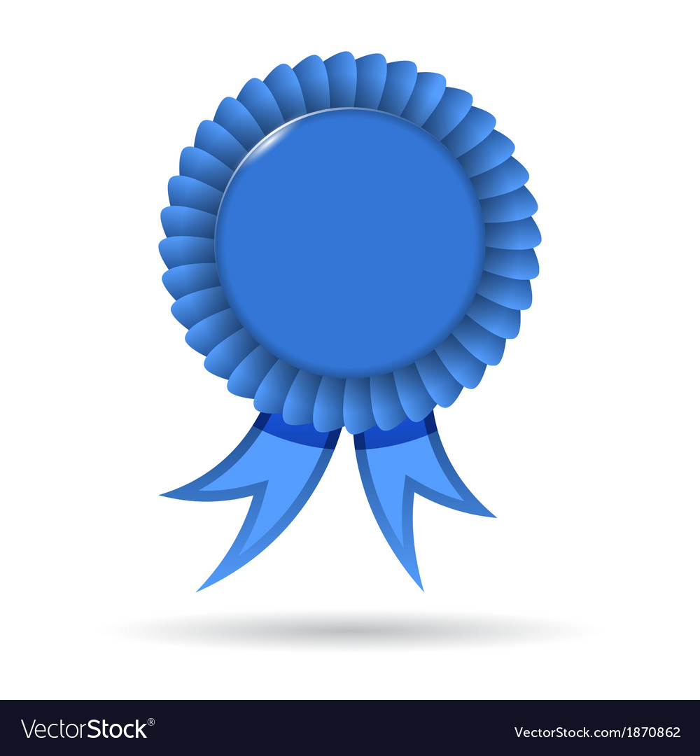 Award blue ribbon vector