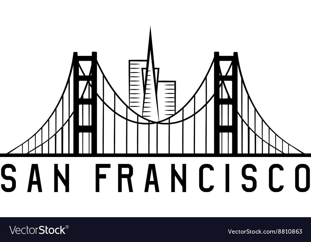 Skyline of san francisco skyline design vector
