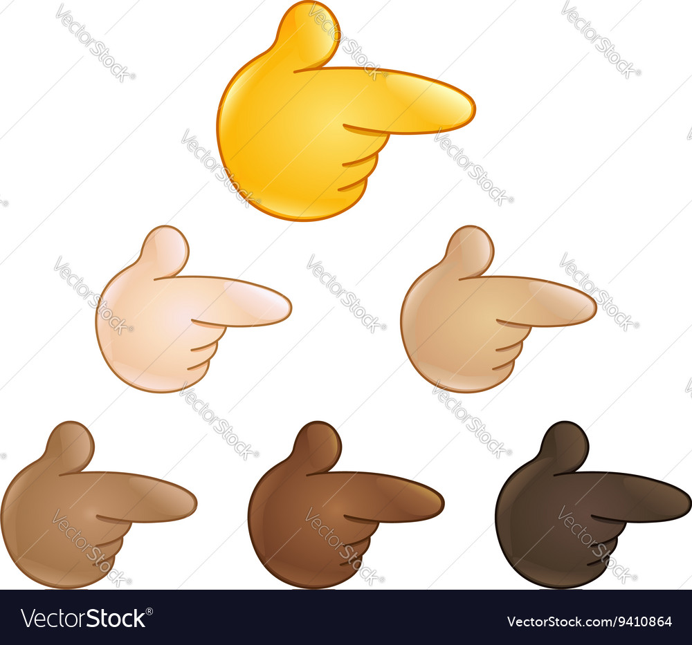 Right pointing backhand index emoji vector
