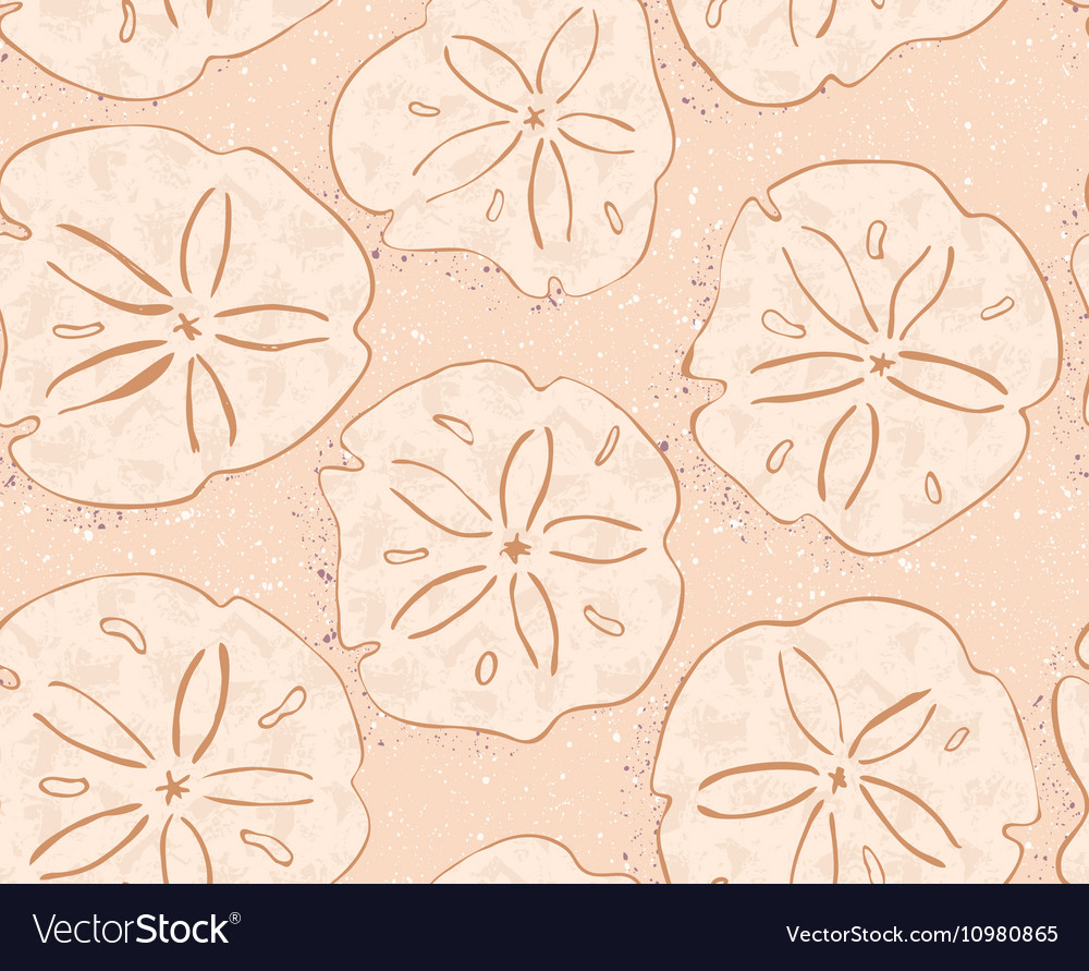 Kelp forest yellow textured sand dollars vector