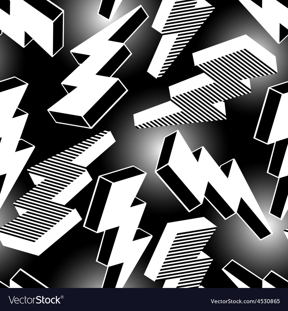 White abstract lightning seamless pattern vector