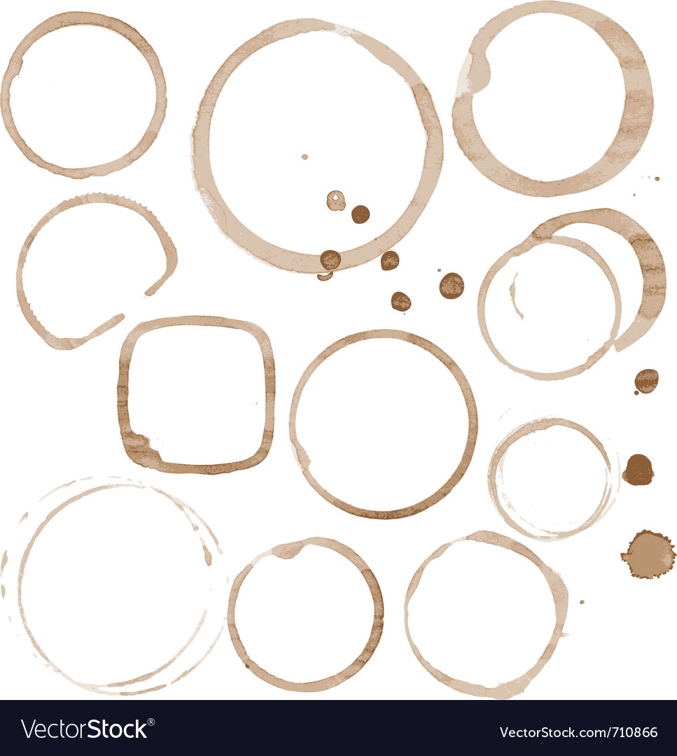 Coffee stain set vector