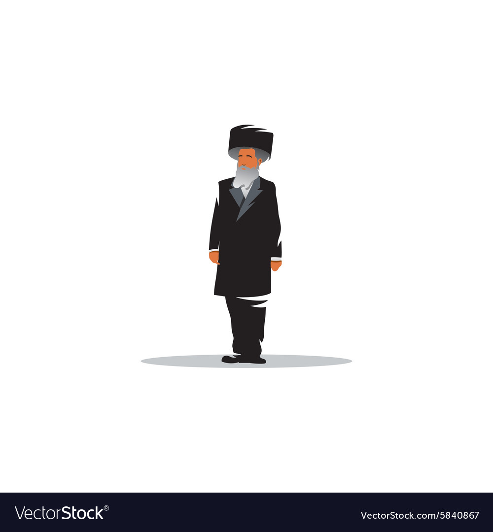 Jewish man sign jew vector