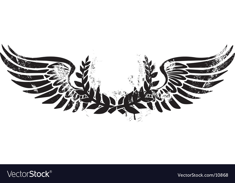 Army laurel emblem vector